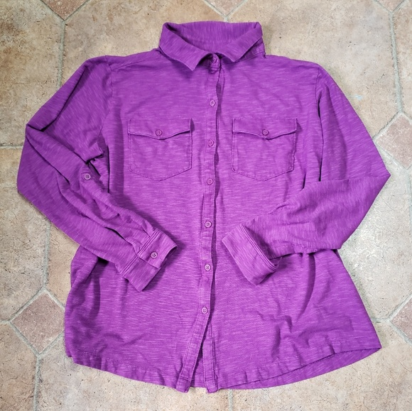 Columbia Tops - Columbia Long Sleeve Button Front Knit Shirt